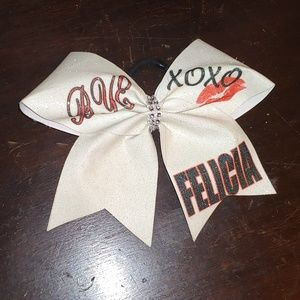 custom Accessories - Cheer Bows/ bows with elastic- 4 pc set!